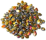 5 Grams of 3x5mm Czech Glass Gekko Beads - Crystal Full Marea