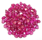 7.5 Grams of Czech 7mm Pinch Beads - Crystal GT French Rose