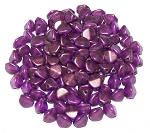 7.5 Grams of Czech 7mm Pinch Beads - Crystal GT Magenta