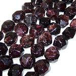 1 Strand of Semiprecious Gemstone Large Nugget Beads - Garnet