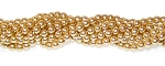 1 Strand of Czech Glass 4mm Pearl Beads - Gold