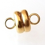 2 Gold-Plated 6x4mm Super Strong Magnetic Clasps