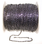 16 Ft (5 meters) of Gunmetal Cable Chain 4x3mm