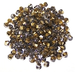 50 Half Gold 4mm Glass Crystal Bicones