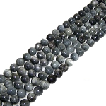 1 Strand of 8mm Round Semiprecious Gemstone Beads - Hawks Eye