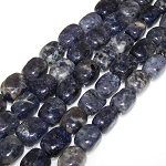 1 Strand of Semiprecious Gemstone Large Nugget Beads - Iolite