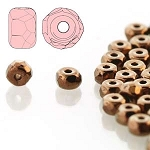 2.5 Grams of 2x3mm Czech Glass Faceted Micro Spacers - Jet Bronze