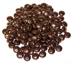 7.5 Grams of Czech 1-Hole 6mm Lentil Beads - Jet Bronze