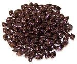 5 Grams of MINI DiamonDuo 2-Hole Czech Glass 4x6mm Beads - Jet Bronze