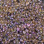 7.5 Grams of Miyuki Czech Unions Size 11 Seed Beads - Jet California Blooming Medow