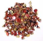 5 Grams of 4mm Czech Glass Button Beads - Jet California Gold Rush