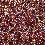 7.5 Grams of Miyuki Czech Unions Size 11 Seed Beads - Jet California Gold Rush