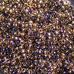 7.5 Grams of Miyuki Czech Unions Size 11 Seed Beads - Jet California Night