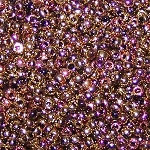 7.5 Grams of Miyuki Czech Unions Size 11 Seed Beads - Jet California Pink