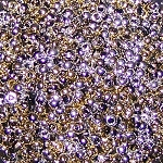 7.5 Grams of Miyuki Czech Unions Size 11 Seed Beads - Jet California Silver
