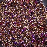7.5 Grams of Miyuki Czech Unions Size 11 Seed Beads - Jet California Violet