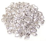 5 Grams of MINI DiamonDuo 2-Hole Czech Glass 4x6mm Beads - Jet Silver Paste Matte