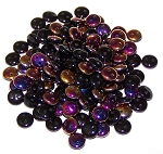 7.5 Grams of Czech 2-Hole 6mm Lentil Beads - Jet Sliperit