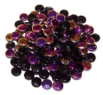 7.5 Grams of Czech 1-Hole 6mm Lentil Beads - Jet Sliperit