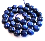 6 Kyanite 12mm Round Semiprecious Gemstone Beads