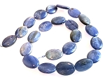 6 Kyanite 13x18mm Puff Oval Semiprecious Gemstone Beads