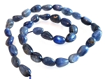 1 Strand of 7x10mm Irregular Nuggets Semiprecious Gemstone Beads - Kyanite