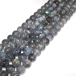 6 Labradorite 12mm Round Semiprecious Gemstone Beads