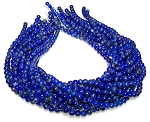 1 Dozen 6mm Round Semiprecious Gemstone Beads - Lapis Lazuli