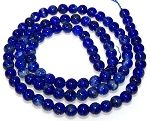 1 Strand of 4mm Round Semiprecious Gemstone Beads - Lapis Lazuli