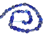 1 Strand of 7x10mm Irregular Nuggets Semiprecious Gemstone Beads - Lapis Lazuli