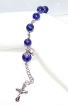 Lapis Beaded Rosary Bracelet Making Kit