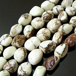 1 Strand of Semiprecious Gemstone Large Nugget Beads - Lemon Chrysoprase
