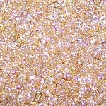 7.5 Grams of Miyuki Czech Unions Size 11 Seed Beads - Crystal Lemon Rainbow