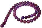 1 Strand of 8mm Round Semiprecious Gemstone Beads - Lepidolite