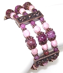 Lepidolite Rose Bracelet Beaded Jewelry Making Kit