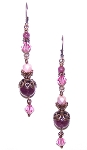 Lepidolite Rose Earrings Beaded Jewelry Making Kit