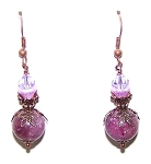 Lustrous Lepidolite Earrings Beaded Jewelry Making Kit