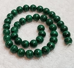 1 Dozen Malachite 10mm Round Semiprecious Gemstone Beads