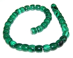 1 Dozen Malachite 12x10mm Rounded Drum Semiprecious Gemstone Beads