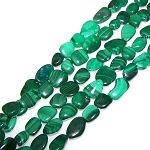 1 Dozen Malachite 12x16mm Irregular Nuggets Semiprecious Gemstone Beads