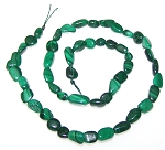 1 Dozen Malachite 7x10mm Irregular Nuggets Semiprecious Gemstone Beads