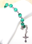 Malachite Beaded Rosary Bracelet Making Kit