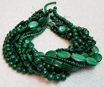 Malachite Semiprecious Gemstone Beads - 11 Strand Set