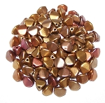 7.5 Grams of Czech 7mm Pinch Beads - Metallic Mix
