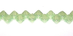 40 Czech Glass Silky 2-Hole 6mm Beads - Milk Jonquil Green Luster