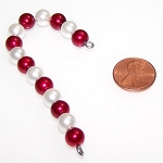 Pack of 5 Mini Pearl Candy Cane Ornament Beaded Jewelry Making Kits
