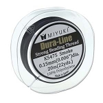 1 Spool of Miyuki Dura-Line Smoke 0.15mm Beading Thread