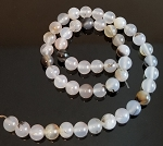 1 Strand of 8mm Round Semiprecious Gemstone Beads - Montana Agate