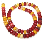 1 Dozen Moukaite 8x5mm Puff Rondelle Semiprecious Gemstone Beads