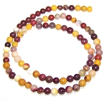 1 Strand of 4mm Round Semiprecious Gemstone Beads - Moukaite